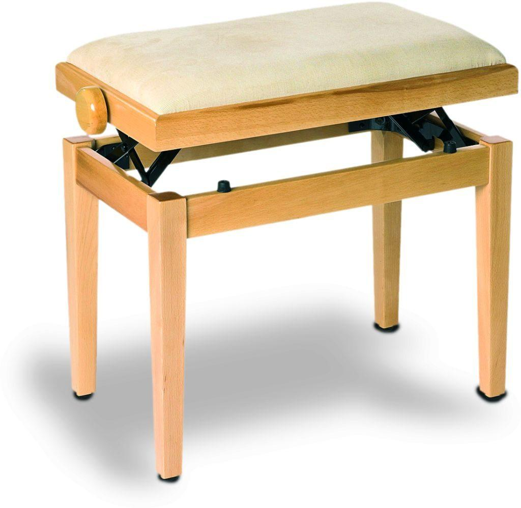 Piano bench beech satin