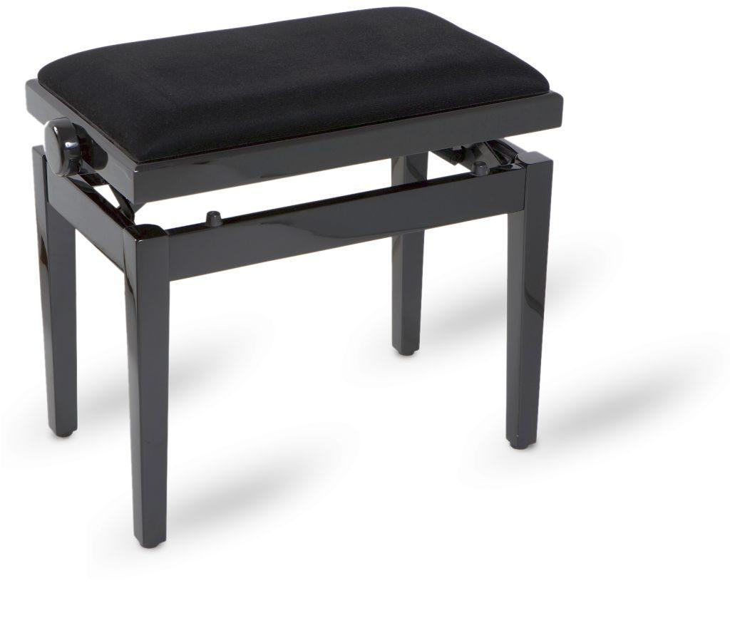 Piano bench black polished