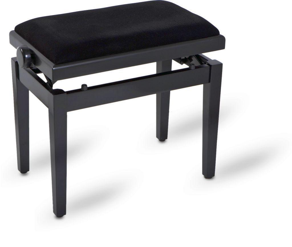 Piano bench black satin