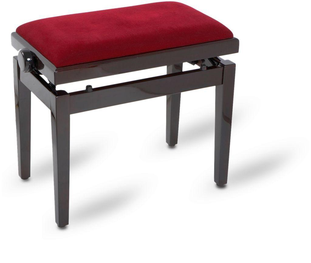 Piano bench bordeaux polished
