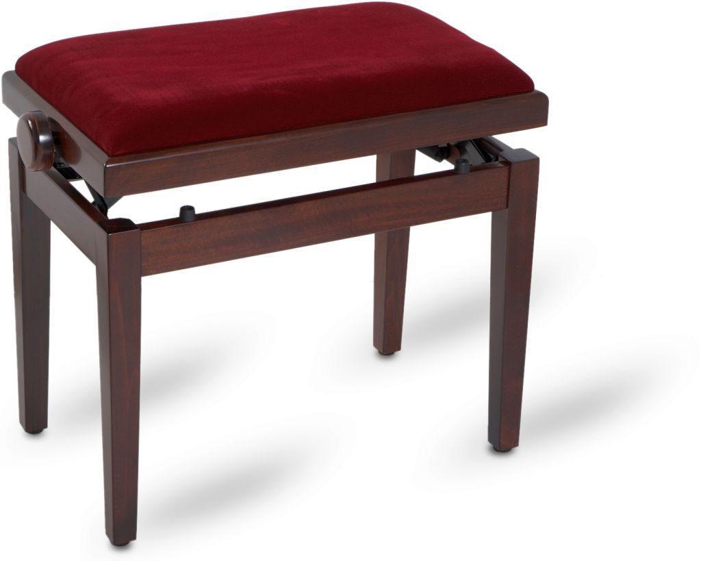 Piano bench bordeaux satin