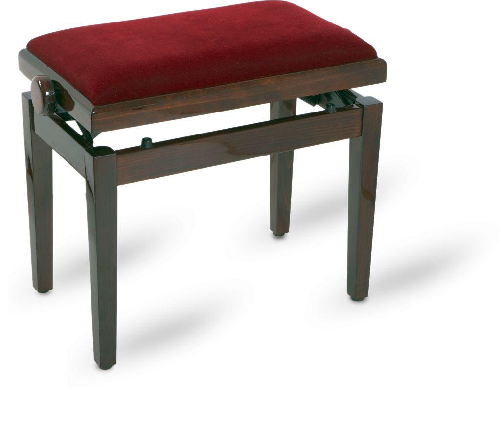 Piano bench walnut polished