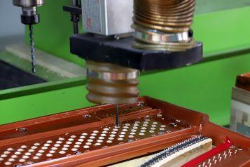CNC Machine Pin Block drilling