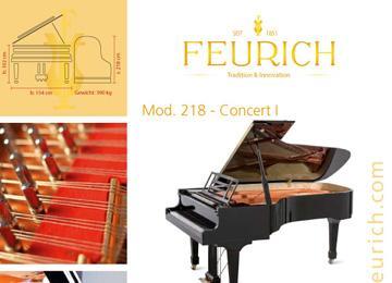 Infoblatt FEURICH Mod 218 - Concert I-1