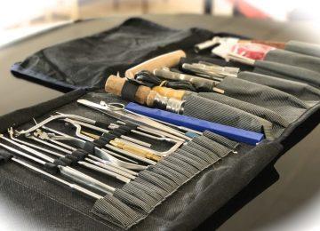 Tool set for piano technicians