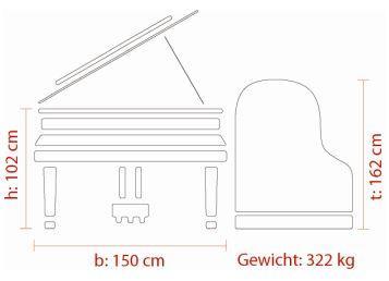 FEURICH Mod. 162 – Dynamic I, Maße deutsch