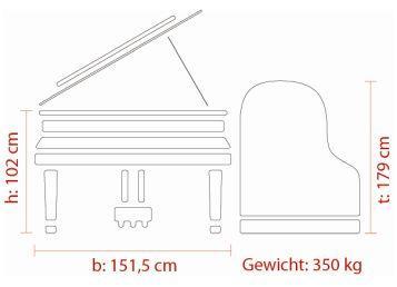 FEURICH Mod. 179 – Dynamic II, Maße Deutsch